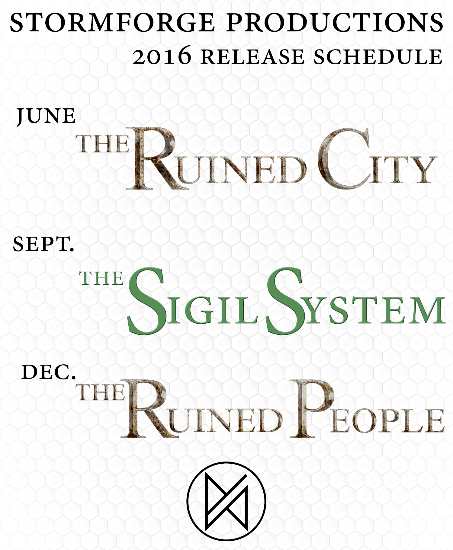 The 2016 Release Schedule